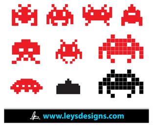 Iconos de Space Invader