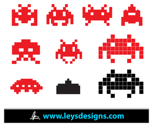 Space Invader Iconos