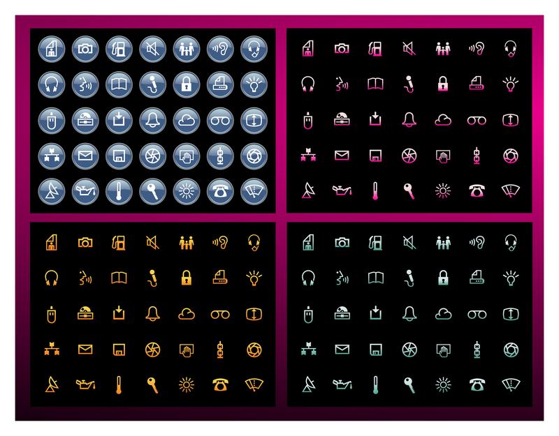 Paquetes de iconos vectoriales gratis
