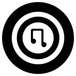 Musik-Symbol B & W
