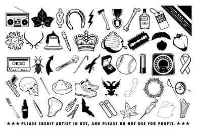 Random scrap icons and