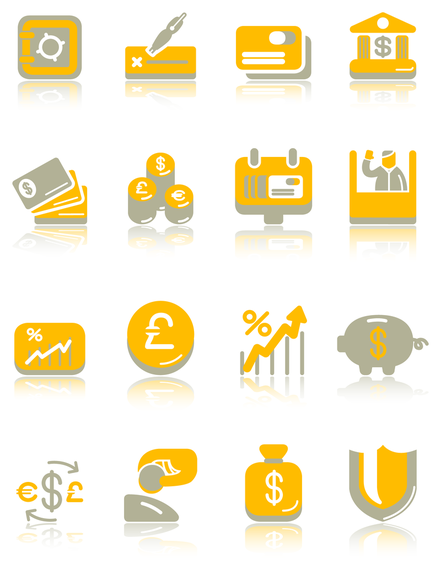 Financial cute icon vector