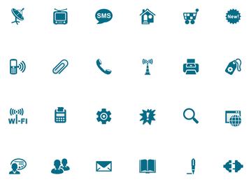 Vector icono de estilo azul