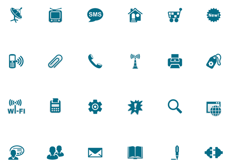 Blue Style Icon Vector