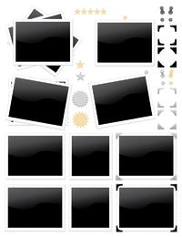 sello de foto icono vector