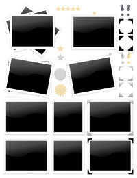 vetor de ícone de selo de foto