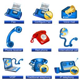 Vektor der Kommunikationsmöglichkeiten-Ikonen