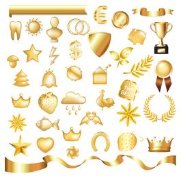 ícone de jóias metálicas 2