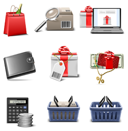 Icono de compras vector serie