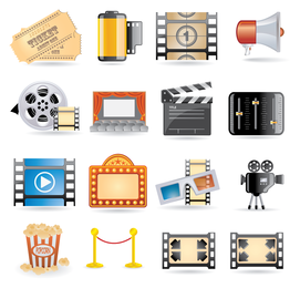 icono de película vector 4