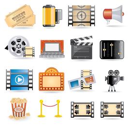 vetor de ícone de filme 4