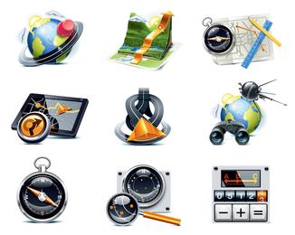 vector de icono de tema de viajeros
