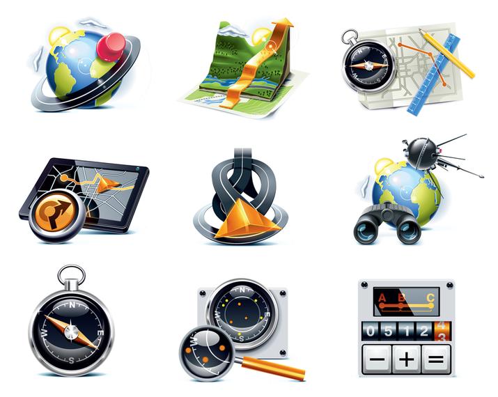 travelers theme icon vector