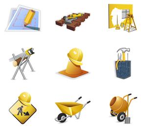 ícone de tema de site de construção