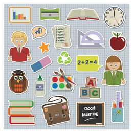 ícone de tema de alunos de escola