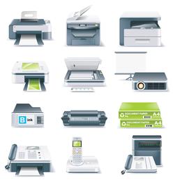 vector de icono de equipo de oficina