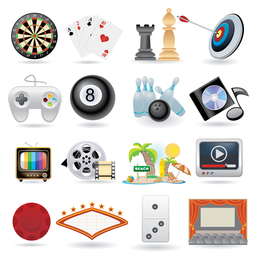 ícones de entretenimento de vida adorável