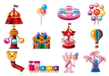 Bonito dos desenhos animados ícone Playground 3