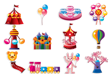 Cute Cartoon Icon Playground 3