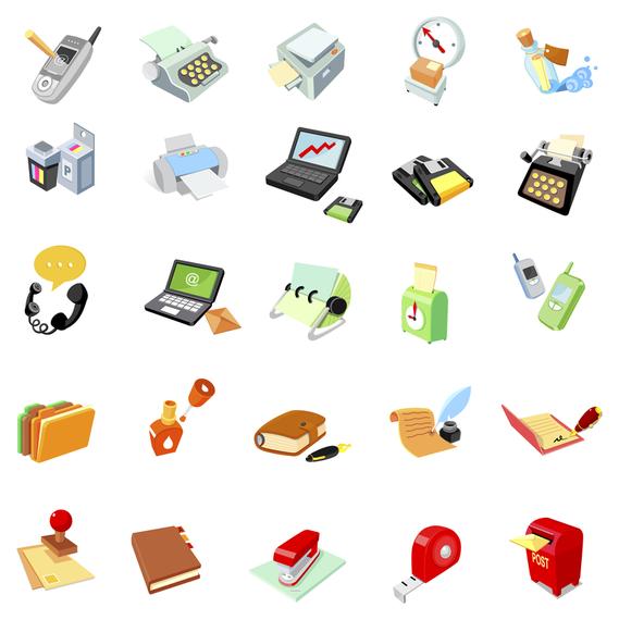 Vector icono de suministros de oficina 2