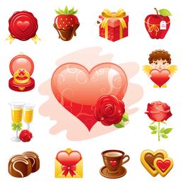 love theme icon vector