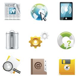 Conjunto de iconos vectoriales de escritorio