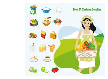 Vector de comida y cocina