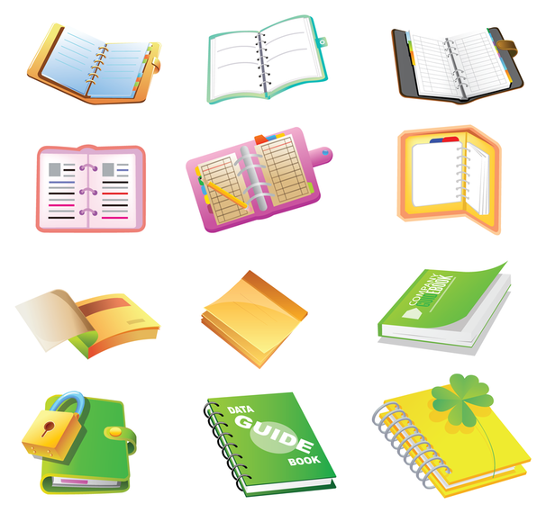 school supplies cartoon icon