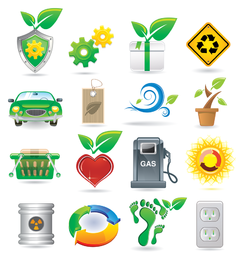 Collection of health ecology icons