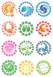 Creative zodiac icons