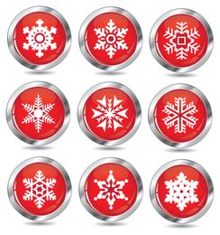 Neuer Schnee Symbol Vektor