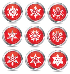 new snow icon vector