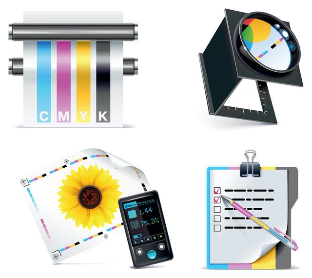 icono de impresora vector relacionado