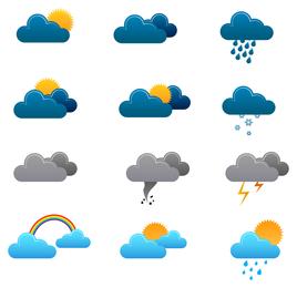 Wetterikonenvektor 3