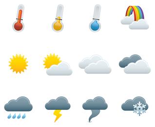 Wetter-Ikonen-Vektor 2
