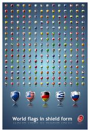 Icono de bandera nacional sofisticado 3