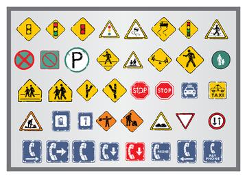 Antiguo icono de señales de tráfico 5