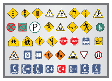 Old Traffic Signs Icon 5