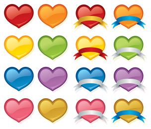 icono de corazón de cristal de color