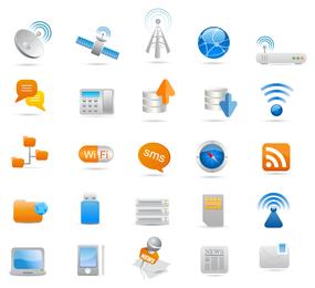 Wireless e ícone de comunicação