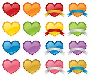 Vector amor coração conjunto