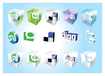 Symbole für soziales Lesezeichen 2