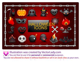 Vector iconos de Halloween