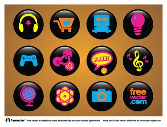 Botones de iconos
