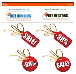 Etiquetas de ventas vectoriales gratis