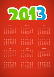 Kalender 2013 Vektor