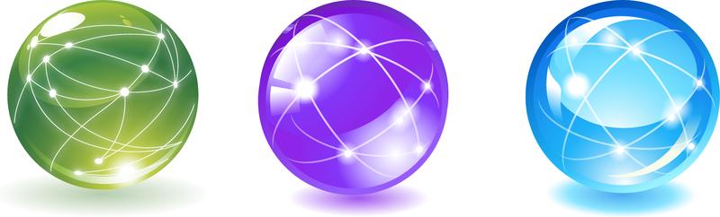 Esfera Ball Con Líneas De Comunicación