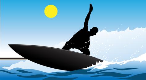 Vetor de surfista