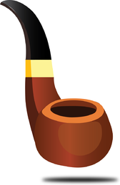 Pipa de tabaco de vector libre