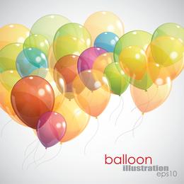 Balões 04 Vector